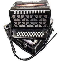 Bonetti Black Diatonic Button Accordion FBE 3012