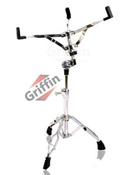 Snare Drum Stand by Griffin | Deluxe Percussion Hardware Base Kit | Double Braced, Light Weight  ...