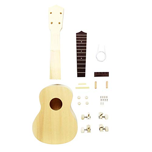 Zimo DIY Ukulele Make Your Own Ukulele Hawaii Ukulele Kit(21in)