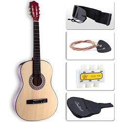 LAGRIMA Acoustic Guitar with Guitar Case, Strap, Tuner & Pick Steel Strings for beginners/ad ...