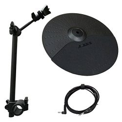 Alesis Nitro Cymbal Expansion Set: 10 Inch Cymbal, Cymbal Arm, Rack Clamp and 10ft TRS Cable (10 ...