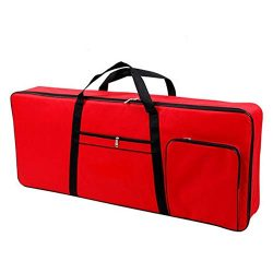61 Key Keyboard Case, Portable Electric Keyboard Bag, Heavy Duty 600D Oxford Cloth with 10mm Cot ...