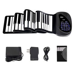 Portable Flexible Electronic 88-Key piano – ANDSF [2019 Upgraded Version ] double loudspea ...