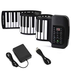 Donner Roll Up Piano Keyboard 88 Keys,Portable with Pedal for Beginners or Finger Power Practice ...