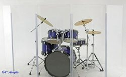 Drum Shield DS1 4 – 2 Feet X 4 Feet Panels no Deflectors Chrome Hinges
