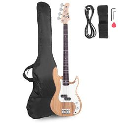 Glarry Electric Bass Guitar Full Size 4 String Rosewood Basswood Fire Style Exquisite Burning Ba ...