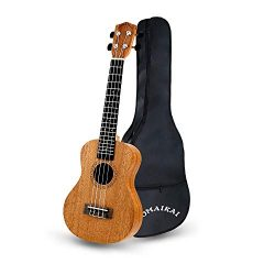 POMAIKAI Concert Ukulele Mahogany 23 inch Beginners Starter Kit Small Hawaiian Guitar Ukeleles f ...