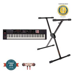 Roland FA-08 88-Key Music Workstation with KS-10X Keyboard Stand includes Free Wireless Earbuds  ...