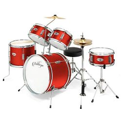 Ashthorpe 5-Piece Complete Kid's Junior Drum Set with Genuine Brass Cymbals – Childr ...