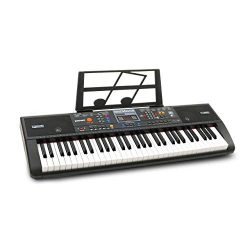 Plixio 61-Key Digital Electric Piano Keyboard & Sheet Music Stand – Portable Electroni ...