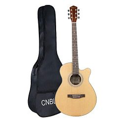 40 inch Acoustic Guitar Mahogany Cutaway Six Steel String Guitars Kit with Gig Bag for Beginner  ...