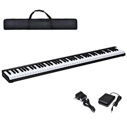 Costzon 88-Key Portable Electronic Piano, with a Black Handbag, 88-Key Full Size Digital Piano,  ...