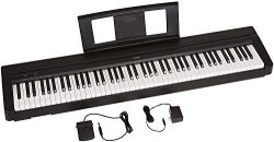 Yamaha P71 88-Key Weighted Action Digital Piano with Sustain Pedal and Power Supply (Amazon-Excl ...