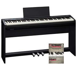 Roland FP-30 Digital Piano with KSC70BK Stand, Triple Pedal, and Lesson Book