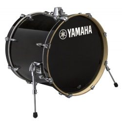 Yamaha Stage Custom Birch 18×15 Bass Drum, Raven Black