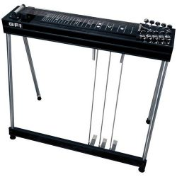 GFI Musical Instruments S-10 SM Pedal Steel Guitar with Hardshell Case (3 pedals, 2 knee levers)
