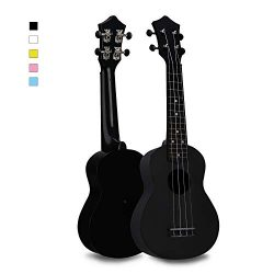 Soprano Ukulele Hawaiian Guitar Musical Instrument with Nylon Strings for Beginners Kids Student ...