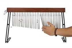 Table Top Bar Chime, Single-row Musical Percussion Instrument with Solid Aluminum Pipe and Iron  ...