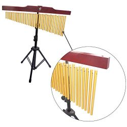 QuTess Concert Bar Chimes 36-Tone Bar Chimes Single-row Wind Chime Musical Percussion Instrument ...