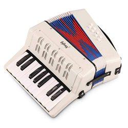 Mugig Accordion, Educational MKA-2 17 Key Keyboard Piano Accordion with adjustable Straps, Solo  ...