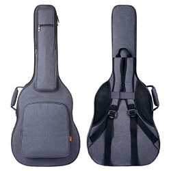 CAHAYA Guitar Bag [Reinforced Version] 0.8 Inch Thick Sponge Overly Padded Extra Protection Guit ...