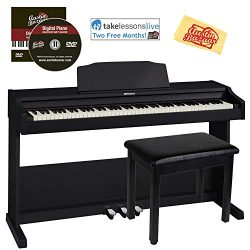Roland RP102 Digital Piano Bundle with Furniture Bench, Online Lessons, Austin Bazaar Instructio ...