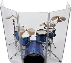 Drum Shield DS65 Living Hinges  5 Panels  2′ x 6′  Panels with Plastic Full Length L ...