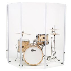 Drum Shield Drum Screen Drum Panels DS65 Living 5 2foot X 6foot Drum Panels with Living Hinges