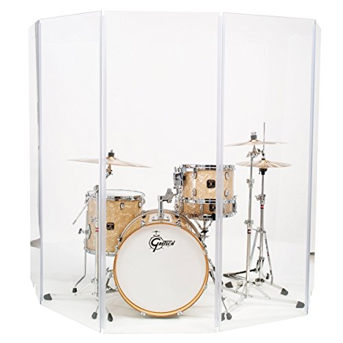 Drum Shield Drum Screen Drum Panels DS65 Living 5 2foot X 6foot Drum Panels with Living Hinges