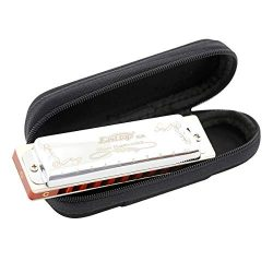 East top 10 Hole 20 Tone Diatonic Harmonica Key of C with Silver Cover,Standard Harmonicas For P ...