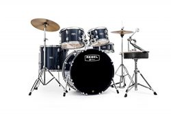 MAPEX RB5294FTCYB Rebel 5-Piece Drum Set with Hardware and Cymbals Royal Blue with 22-Inch Bass Drum