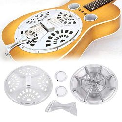 T-best Spider Bridge Tailpiece,Dobro Guitar Parts Screens Tailpiece Spider Bridge Resonator Cone ...