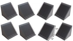 Acoustic Foam Bass Trap Corner- 8 Pack 12″ X 12″ X 12″
