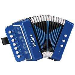 Kiddire 10 Keys Kids Accordion, Toy Accordion Musical Instruments for Children Kids Pre-Kinderga ...