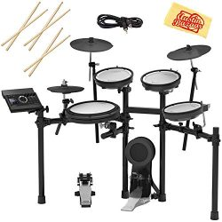 Roland TD-17KV Electronic Drum Set Bundle with 3 Pairs of Sticks, Audio Cable, and Austin Bazaar ...