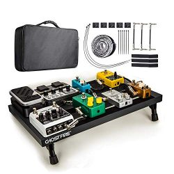 Pedal Board, Guitar Effects Pedal Board Aluminum Alloy Large Lightweight Portable Electric Guita ...