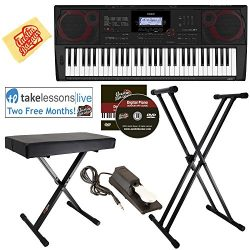 Casio CT-X3000 Keyboard Bundle with Adjustable Stand, Bench, Sustain Pedal, Online Lessons, Aust ...