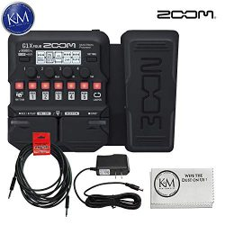 Zoom G1X Four Guitar MultiEffects Processor with Expression Pedal + (1) 20ft Instrument Cable +  ...