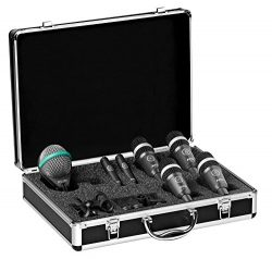 AKG Acoustics Drum Set Concert 1 Professional Drum Microphone Set With D112 MkII Bass Drum, 2x C ...