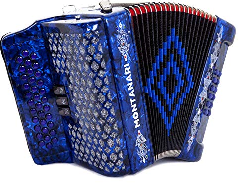 Acordeon Montanari 3412 3S Fa Azul FBE Accordion