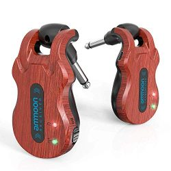 ammoon Wireless Guitar System 4 Channels Audio Digital Guitar Transmitter Receiver 300 Feet Tran ...