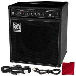 Ampeg BA-110V2 40W 10″ Bass Combo Amplifier and Basic Bundle w/Cables + Fibertique Cloth