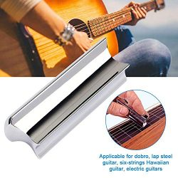 opOpb213IL Finger Stainless Steel Guitar Music Slide Tone Bar for Dobro, Lap Steel Guitar, Hawai ...