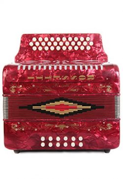 Rossetti 31 Button Accordion 12 Bass FBE Red