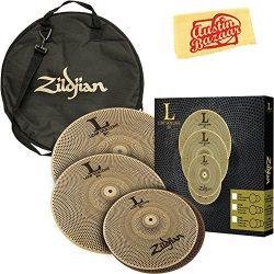 Zildjian L80 Low Volume Cymbal Set Bundle with Gig Bag and Austin Bazaar Polishing Cloth