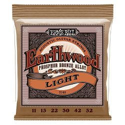 Ernie Ball Earthwood Light Phosphor Bronze Acoustic Guitar Strings – 11-52 Gauge