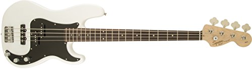 Squier by Fender Affinity Series Precision Beginnger Electric Bass – PJ – Olympic White
