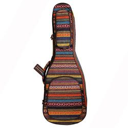 MUSIC FIRST Original Design 0.6″ (15mm) Thick Padded Country Style Baritone Ukulele Case,  ...