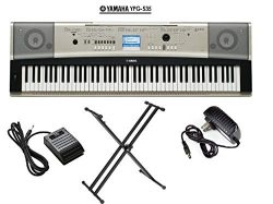 Yamaha YPG-535 Portable Grand Piano Keyboard 88 key package PKBX2 X-Style Keyboard Stand + KSP20 ...