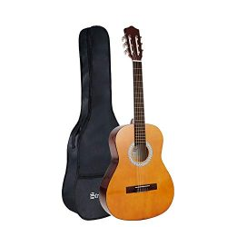 Strong Wind Classical Acoustic Guitar 36 Inch 6 Nylon Strings Guitar Beginner Kit for Students C ...